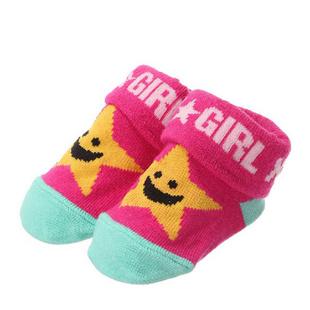 X-girl Stages 星星婴儿袜粉色 451543 粉色 60cm