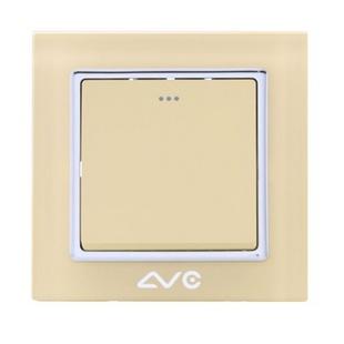 LVC6611A 水晶钢化玻璃面板 一位大跷板双控开关(米黄)