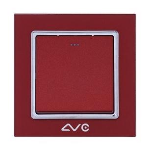 LVC6601A 水晶钢化玻璃面板 一位大跷板单极开关(米黄)