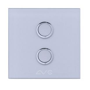 LVC8802A 钢化玻璃面板 如意贴开关2键(天蓝)