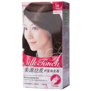 美源丝质护发染发霜(T+L)进口女士植物染发剂发采遮盖白发染发膏 5B咖啡色
