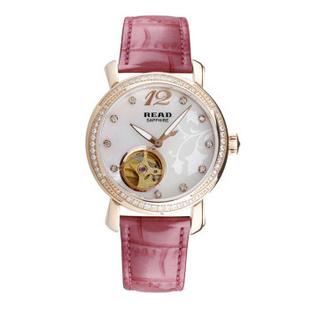 锐力(READ)R8035L手表已转京东自营,请点击下方链接购买! 玫瑰金粉皮