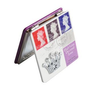精致方形随身镜便携可折叠化妆镜 皇冠