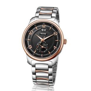 锐力(READ)R7002G手表已转京东自营,请点击下方链接购买! 黑面玫瑰金色