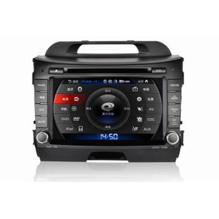 卡仕达 起亚K2 K3 K5 智跑 狮跑 车载DVD导航一体机 CA229-T包安装 导航+包安装