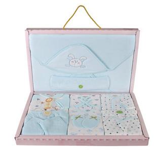 香港 亿婴儿 新款双层带抱被宝宝礼盒 婴儿服饰用品礼盒 2129(蓝色)
