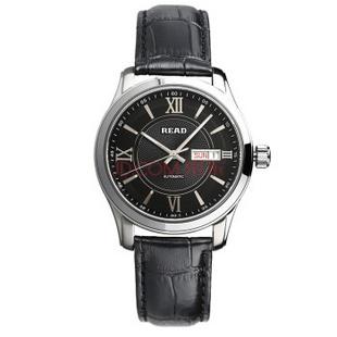 锐力(READ)R8019G手表已转京东自营,请点击下方链接购买! 银框黑皮带