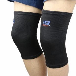 两只装LP600高弹性透气保暖护膝徒步运动护具 男女 M
