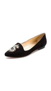 Elvie  绒面革平底鞋