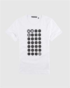 魔术贴波点印花短袖T恤