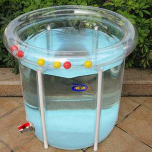 诺澳 折叠加厚省水精灵环保全透明婴幼儿游泳池支架游泳桶73*75 16件套 1106
