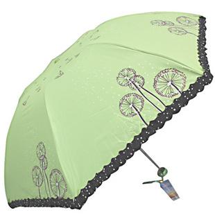 天堂 春日畅想 黑胶 防紫外线 超轻三折 晴雨伞 3343E