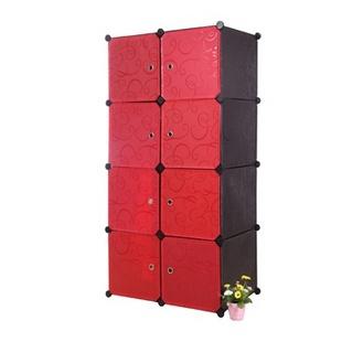 名门新贵 加大款式 8格组合收纳柜 时尚新颖 DIY便捷组合杂物收纳架 多色(白色)