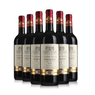 聚酒网 法国原瓶进口红酒 赛凯斯城堡AOC干红葡萄酒6支装750ml*6