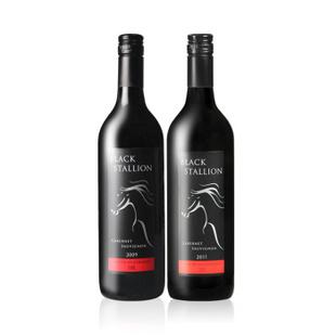 喜达纳黑马双支干红750ml*2 原瓶进口南澳大利亚红酒