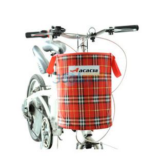 acacia 自行车无盖折叠车筐 车篮 红色