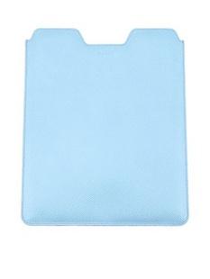 BALLY巴利蓝色牛皮材质纯色IPAD套,BARBIO,6181863087,GLACIER BLUE