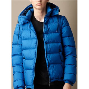 Burberry柏博丽美国官网正品代购男士秋冬新款时尚Puffer袖子可拆卸白鸭绒羽绒服外套