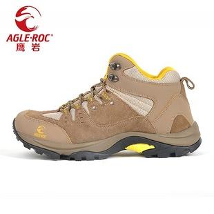 AGLEROC 艾格利克 全年全网最低价 男款防水透气登山鞋秋冬正品1301502 灰色