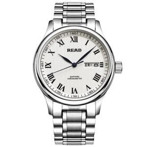 锐力(READ)手表 钢表带石英男表白罗盘R6003G