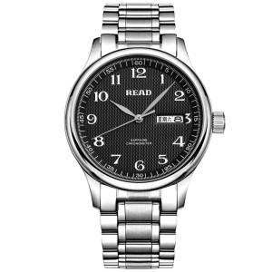 锐力(READ)手表 钢表带石英男表黑数盘R6003G