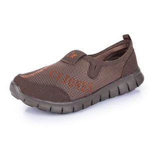 新款夏季必备 情侣款网布休闲透气鞋 跑步运动鞋 888(卡其色 40)