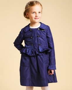 女童紫色风衣