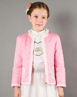 女童粉红色棉衣