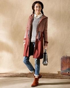 朱红色棉衣