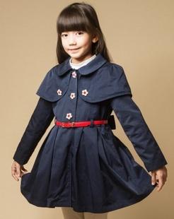 女童藏青色风衣