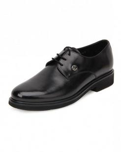 黑色牛皮商务皮鞋