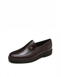 深棕色牛皮经典商务皮鞋