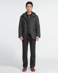 男士深灰色大衣