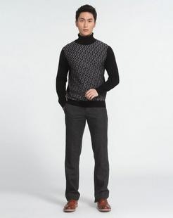 男士黑色羊毛衫