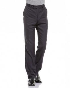 黑蓝色商务休闲长西裤