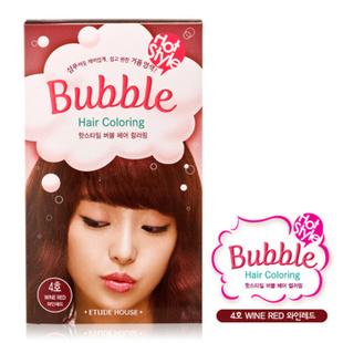 爱丽小屋EtudeHouse清新花香泡泡染发膏套装 无刺激 4号酒红色