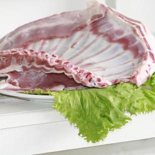 内蒙古精选羊排骨 鲜肉冷冻 免切多肉羊排骨 3-5人份真空2斤*2袋 (买二赠一)
