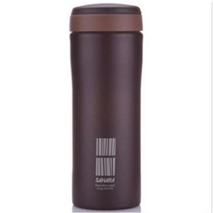 Tiger虎牌保温杯 不锈钢真空保温杯MMK-B45C商务办公泡茶杯450ml 咖啡色