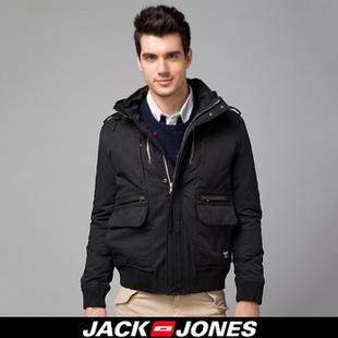 杰克琼斯JackJones连帽男士短款棉服I|213121010 黑/Black 175/96A/M