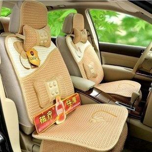 峰雅莱 枫叶途乐 逍客 西玛 帕拉丁汽车坐垫夏季磁疗冰丝四季垫 米黄色