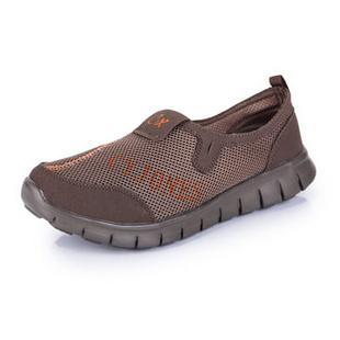 新款夏季必备 情侣款网布休闲透气鞋 跑步运动鞋 888(卡其色 42)