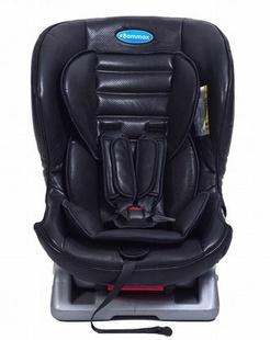 坐躺调节五点式儿童皮质汽车安全座椅橙色