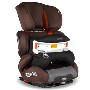 西班牙JANE(简奈)儿童汽车安全座椅 Montecarlo R1蒙特卡罗 棕橘(适合9-36kg,约9个月-12岁儿童,带Isofix接口,可调节椅背高度与宽度,底座前后位移可多档调节,西班牙皇室专享品牌)