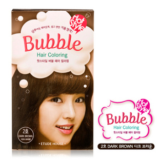 爱丽小屋EtudeHouse清新花香泡泡染发膏套装 无刺激 2号深棕色