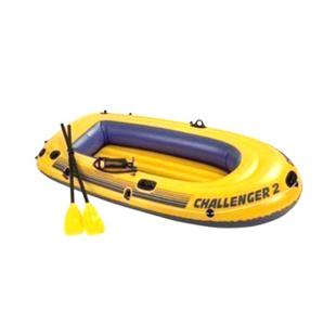 INTEX正品挑战者2人加厚充气船 橡皮艇含船浆气泵 本款