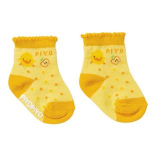 【黄色小鸭官方旗舰店】苹果短袜 婴儿袜 880238 浅粉 13-15CM
