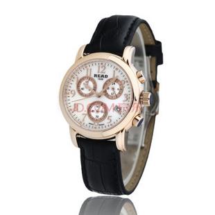 锐力(READ)R7003L手表已转京东自营,请点击下方链接购买! 玫瑰金黑皮带