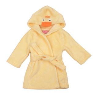 儿童珊瑚绒浴袍 黄色浴袍 18-24M