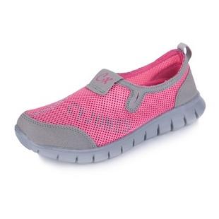 新款夏季必备 情侣款网布休闲透气鞋 跑步运动鞋 888(浅灰梅红色 37)
