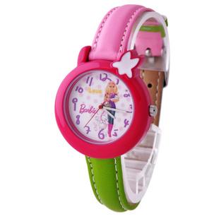 芭比(Barbie)石英表 蓝调威尼斯 果冻表多彩皮带夜光儿童手表BA00042 红色
